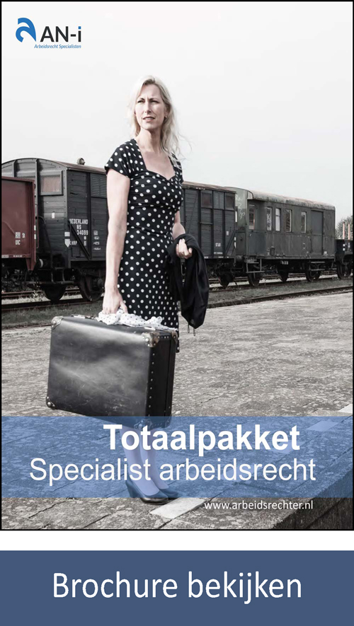 Brochure totaalpakket met studie en training Arbeidsrecht op post-HBO-WO-niveau